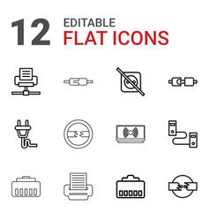 Adapter icons vector