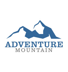 adventure mountain logo icon vector image