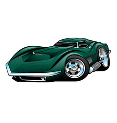 American Classic Sports Car Cartoon vector