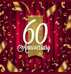 anniversary golden signboard vector image
