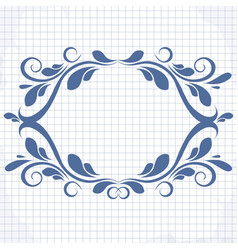 background of a notebook with a patterned vector image