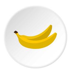 Banana icon circle vector