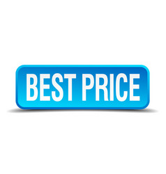 Best price blue 3d realistic isolated button vector