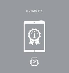 Best tablet awards - flat minimal icon vector
