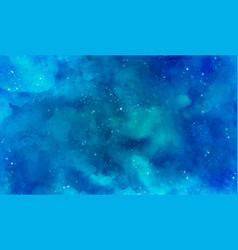 Blue galaxy background vector