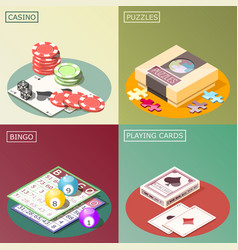 board games isometric design concept vector image