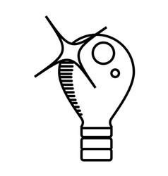 bulb light electricity outline vector image