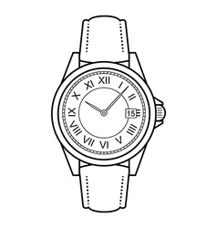 Business style hand watches Contour vector
