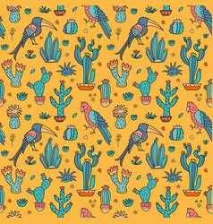 Cacti seamless pattern vector
