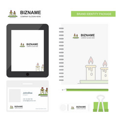 candles business logo tab app diary pvc employee vector image