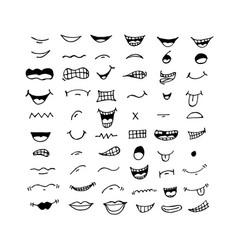Cartoon mouth icon design vector