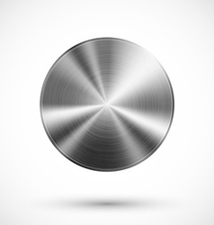 Circle button metal vector image