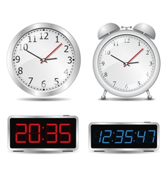 clocks vector image vector image