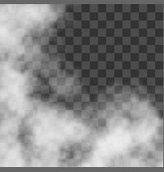 Clouds white fog smog on transparent background vector