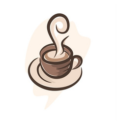 cofffe cup 3 vector image
