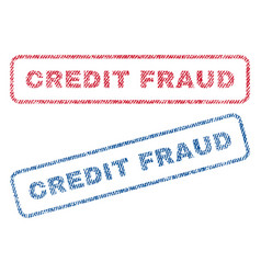 credit fraud textile stamps vector image