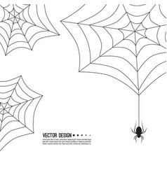 Creepy spider web vector
