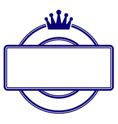 crown round and rectangle frame template vector image
