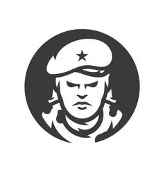 cuba communist revolutionary silhouette vector image