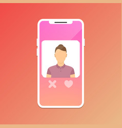 dating application concept vector image