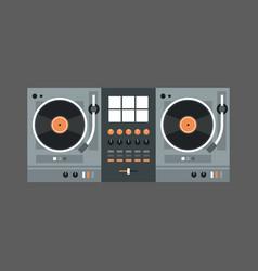 Dj mixer icon modern music recorder concept vector