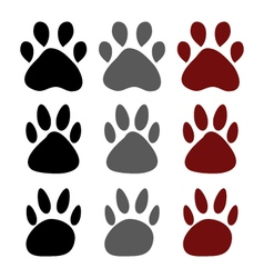 Dog paws vector