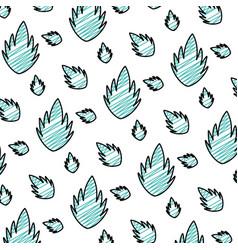 doodle beauty exotic leaf nature background vector image
