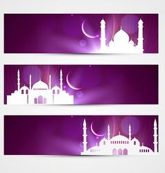 eid headers vector image