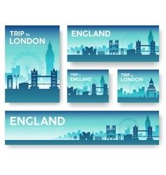 England landscape banners set vector