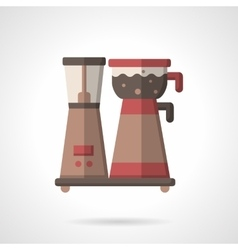 Flat color coffee making icon vector
