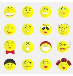 Flat Colorful Emoticons vector