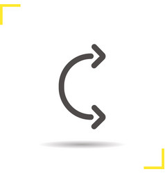 Flexible arc arrows glyph icon vector