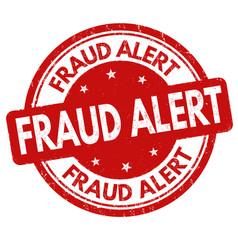 fraud alert grunge rubber stamp vector image
