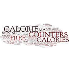 Free calorie counters available online text vector