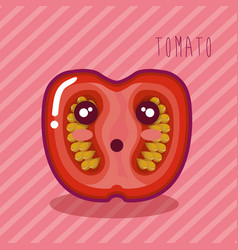 Fresh tomato vegetable character vector