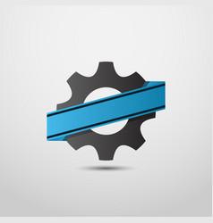 gear logo industry symbol logo motor sport logo vector image