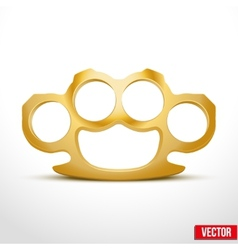 Gold Metal Brass knuckles vector