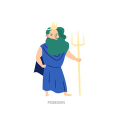 Greek ancient mythology god sea and ocean vector
