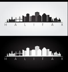 halifax skyline and landmarks silhouette vector image