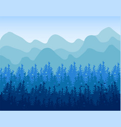 Horizontal abstract banners hills of vector