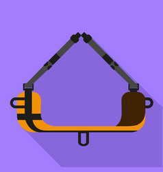 in air sleep tool icon flat style vector image