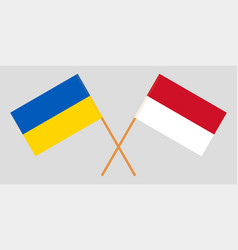 Indonesian and ukrainian flags vector