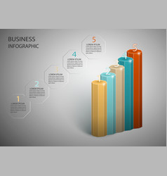 infographics design can be used vector image
