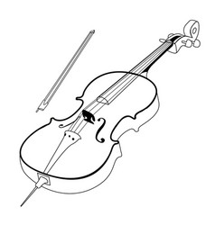 Isolated cello outline vector