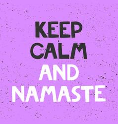 Keep calm and namaste sticker for social media vector