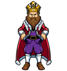 king standing on white vector image