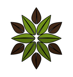 Leafs ecology symbol icon vector