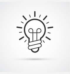 light bulb idea flat line trendy icon eps10 vector image