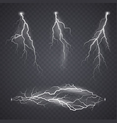 lightning or bolt effect bright realistic flash vector image