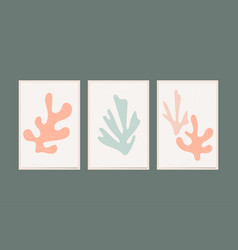matisse organic scandi poster hipster style vector image